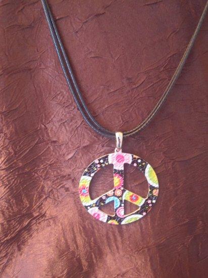 Retro Peace Sign Necklace