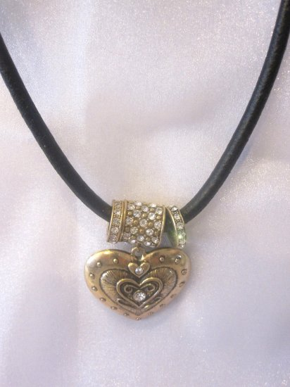 Gold Crystal Heart Necklace