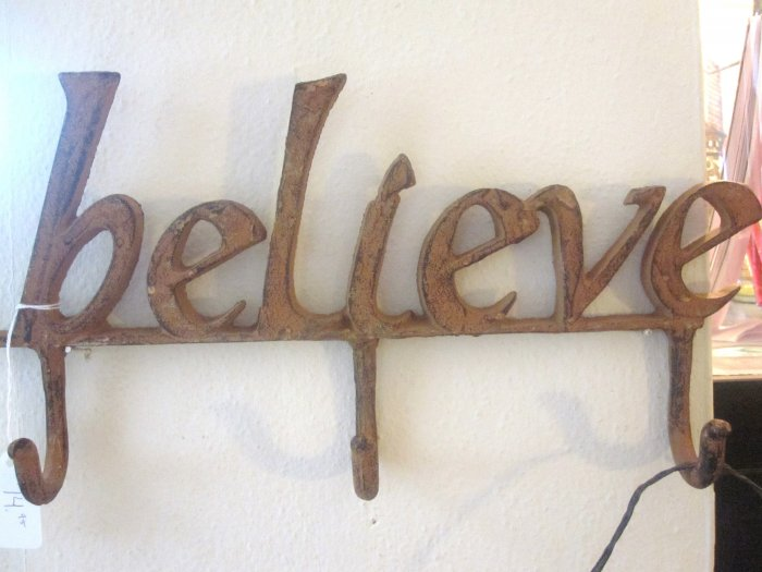 """Believe"" Coat Rack"