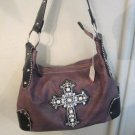 Purple Crystal Cross Purse