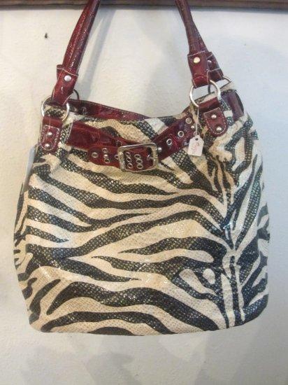 Zebra w/ Red Handbag