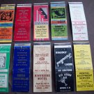 Huron, SD Matchbook Covers Lot 1
