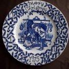 "9""  Staffordshire Plate- Merry Christmas 1975"