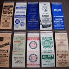 Huron, SD Matchbook Covers Lot 2