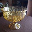 Amber Pedestal Bowl