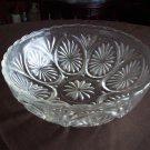 Clear Glass Bowl Thumbprint/Ray Design