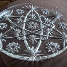 Pressed Glass Clear Platter