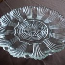 Clear Glass Round Ray Pattern Platter