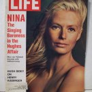 Life Magazine   Nina Singing Baroness in Hughes Affair    February 11, 1972
