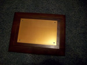 Blank Wood and Metal Plaque