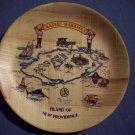 "6 1/4""   Nassau Bahamas Plate  (Wood?)"
