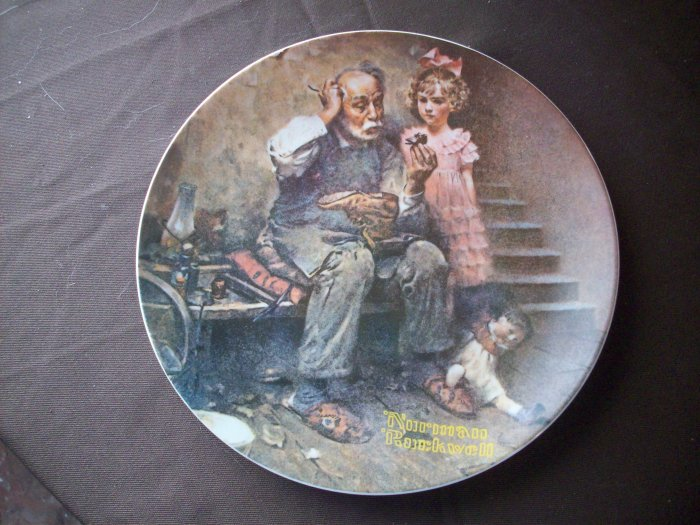 "8 1/2"" Norman Rockwell Plate   ""The Cobbler"""