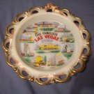"8"" Vintage Milk Glass Las Vegas Plate"