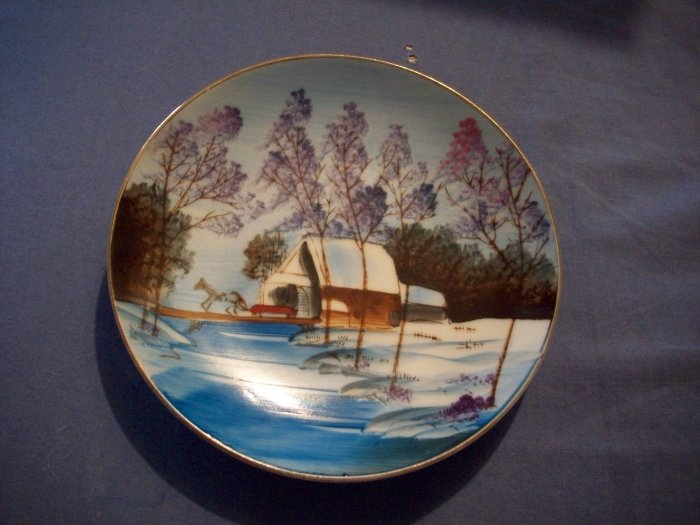 """5 1/4"""" Hand Painted Plate"""