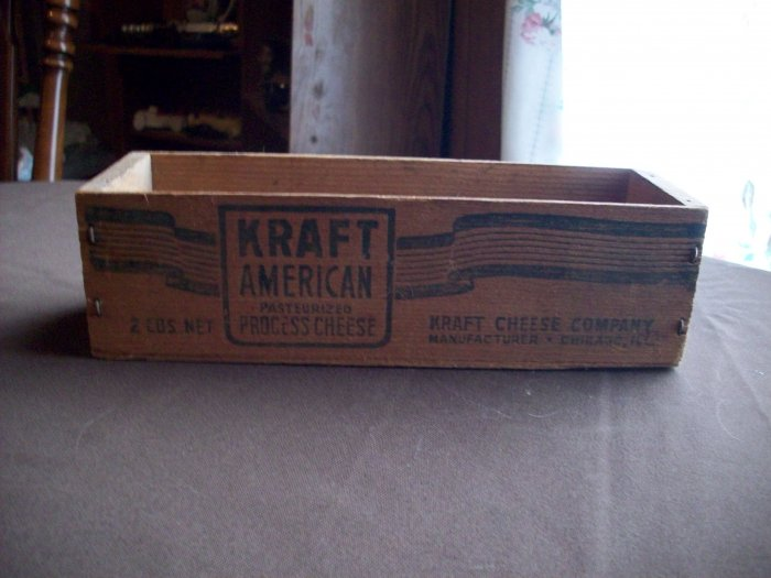 Vintage Kraft American Wood Cheese Box