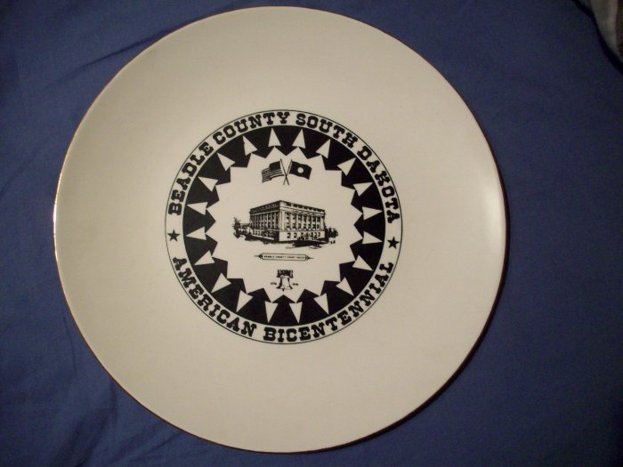 "10 1/4"" Beadle County Bicentennial Plate"