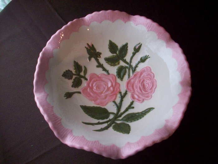 Ceramic Bowl with Rose Design