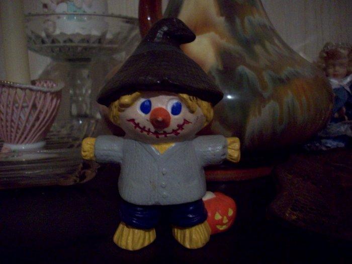 Ceramic Scarecrow with Pumpkin