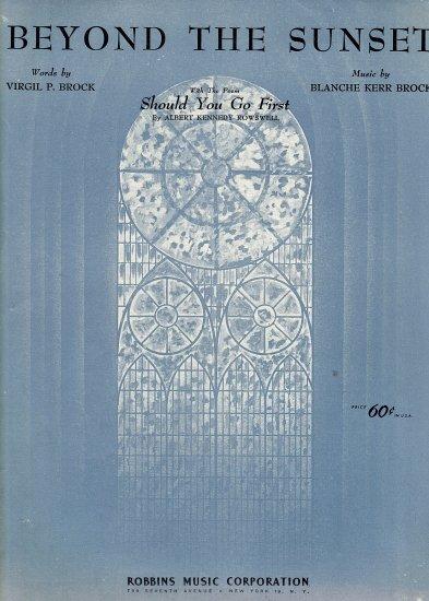 Vintage Sheet Music   Beyond the Sunset