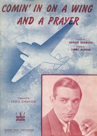 Vintage Sheet Music    Comin' in on a Wing and a Prayer