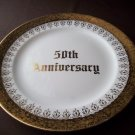 """8 1/4""""   50th Anniversary  Eastern China 22kt Gold Plate"""