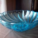Blue Swirl Glass Bowl