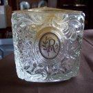 Avon Crystal Candle Holder Triangle Shape