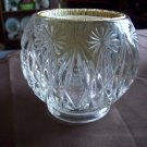Avon Round Clear Glass Candle Holder