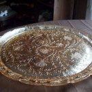 Vintage Silver Glass Platter