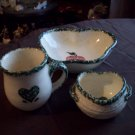 Three Piece Stoneware Set
