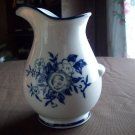 Porcelain Flowered Pitcher Vase