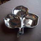 Vintage Silver Glass Leaf Tray