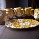 Vintage Fred Roberts Japan Cups and Tray
