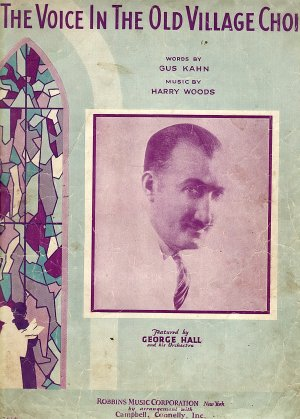 Vintage Sheet Music  The Voice In The Old Village Choir