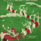 Vintage Sheet Music Here Comes Santa Claus