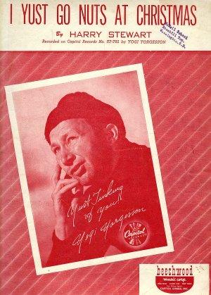 Vintage Sheet Music  I Yust Go Nuts At Christmas