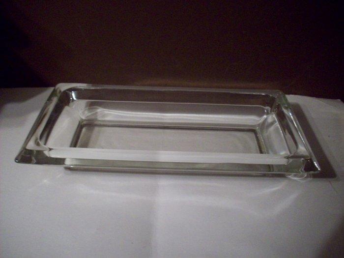 Heavy Clear Glass Tray