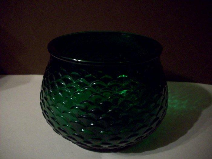 E, O. Brody Green Glass Planter