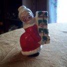 Vintage Porcelain Mrs. Claus Candle Holder