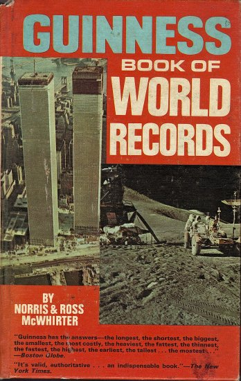 Vintage Guinness Book of World Records 1972 by Norris & Ross Mc Whirter