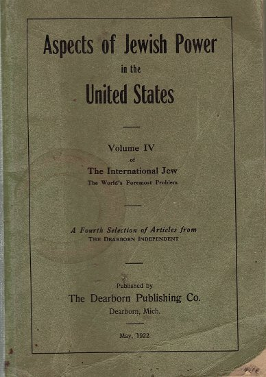Aspects of Jewish Power in the United States Vol. 4