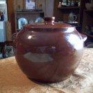 Vintage Watt Pottery Lidded Bean Pot