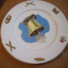 Vintage American Ceramic's Plate  22 Carat Gold