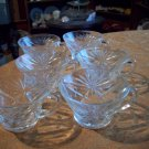 Six Matching Clear Glass Cups