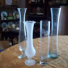 Lot of Four Different Crystal Bud Vases