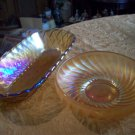 Two Vintage Carnival Glass Bowls