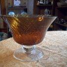 Vintage Swirl Glass Pedestal Bowl