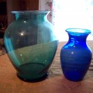 Lot of Two Glass Vases
