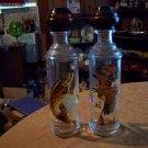 Two Vintage Cabin Still Whiskey Bottles