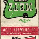 Metz Beer Matchbook Cover